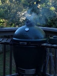 Smoking Up the Big Green Egg